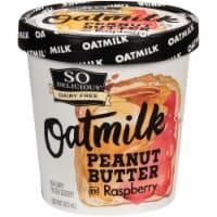 SO Delicious Oatmilk Peanut Butter and Raspberry Frozen Dessert - 1 pt