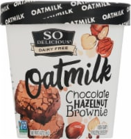 SO Delicious Oatmilk Chocolate Hazelnut Brownie Dairy Free Frozen Dessert