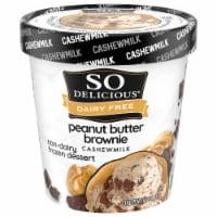 SO Delicious Peanut Butter Brownie Cashewmilk Non-Dairy Frozen Dessert - 1 pt