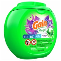 Gain Flings! Moonlight Breeze Scent with Oxi Boost & Febreze Freshness Laundry Detergent Pacs