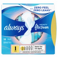 Always Infinity FlexFoam Unscented Regular Size 1 Pads