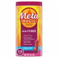Metamucil 4-in-1 Psyllium Fiber Supplement Sugar Free Berry Flavor Smooth Texture Powder - 23.3 oz