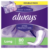 Always Long Dri-Liners Unscented Pantiliners