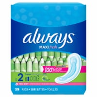 Always Maxi Fresh Size 2 Long Super Pads 39 Count