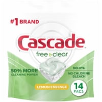 Cascade Free & Clear Lemon Essence Dishwasher Detergent ActionPacs