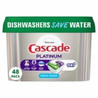 Cascade® Platinum™ Fresh Scent Dishwasher Detergent Actionpacs - 48 ct