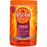 Metamucil 4-in-1 Psyllium Fiber Supplement Sugar Free Orange Flavor Smooth Texture Powder