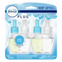 Febreze Plug Linen & Sky Air Freshener Odor-Eliminating Refills