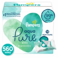 Pampers Aqua Pure Baby Wipes - 560 ct