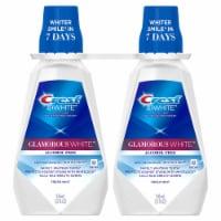 3D Glamorous White Alcohol Free Whitening Mouthwash, Fresh Mint (32 oz., 2 pk.) - 1 unit