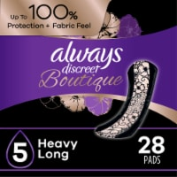 Always Discreet Boutique Size 5 Heavy Long Incontinence Pads