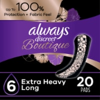 Always Discreet Boutique Size 6 Extra Heavy Long Incontinence Pads