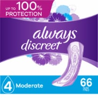 Always Discreet Incontinence Pads for Women Moderate Absorbency