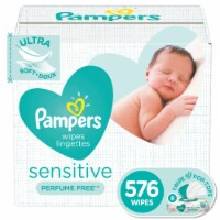 Pampers Sensitive Perfume Free Baby Wipes - 8 pk / 72 ct