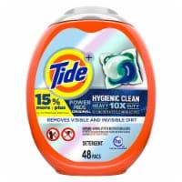 Tide Power Pods 10X Heavy Duty Hygienic Clean Original Laundry Detergent Pacs - 48 ct