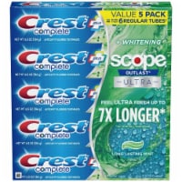 Crest Complete Whitening + Scope Toothpaste, 6.5 Ounce (5 Pack) - 1 unit
