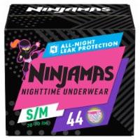Ninjamas Small/Medium Girl's Nighttime Training Pants Super Pack - 44 ct