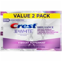 Crest 3D White Brilliance  + Advanced Stain Protection Vibrant Peppermint Teeth Whitening Toothpaste