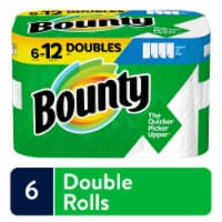 Bounty Select-a-Size White Double Roll Paper Towels - 6 rolls