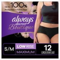 Always Discreet Boutique Maximum Small/Medium Low Rise Women's Incontinence Underwear