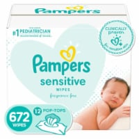 Pampers Sensitive Perfume Free Baby Wipes - 12 pk / 56 ct