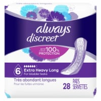 Always Discreet Incontinence Pads for Women Extra Heavy Absorbency Long Length