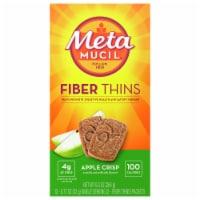 Metamucil Fiber Thins Apple Crisp Flavored Dietary Fiber Supplement Snack with Psyllium Husk