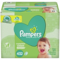 Pampers Complete Clean Unscented Baby Wipes