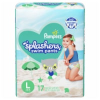 Pampers Splashers Large Disposable Swim Pants 17 Count
