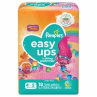 Pampers Easy Ups Size 4T-5T Girls Training Underwear