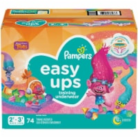Pampers Easy Ups Girls Size 2T-3T Training Pants