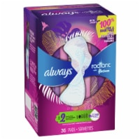 Always Radiant Size 2 Heavy Flow Scented Pads