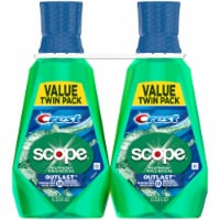 Scope Outlast Long Lasting Mint Mouthwash 2 Count
