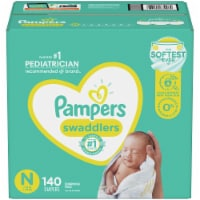 Pampers Swaddlers Size N Newborn Diapers - 140 ct