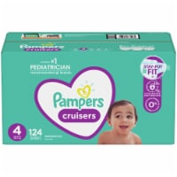 Pampers Cruisers Stay-Put Size 4 Diapers - 124 ct