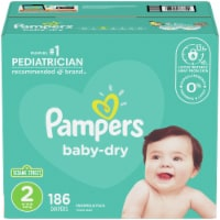 Pampers Baby-Dry Size 2 Diapers - 186 ct