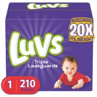 Luvs Triple Leakguards Size 1 Diapers