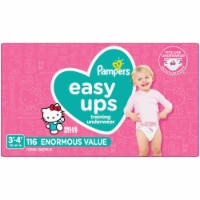 Pampers Easy Ups Size 3T-4T Training Pants - 116 ct