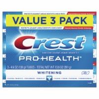 Crest Pro-Health Whitening Fluoride Gel Toothpaste 3 Count