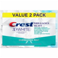 Crest 3D White Brilliance Blast Teeth Whitening Toothpaste Energizing Mint Twin Pack