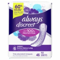 Always Discreet Size 6 Extra Heavy Absorbency Long Women's Incontinence Pads