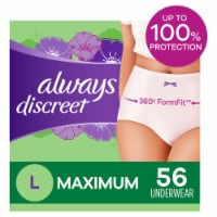 Always Discreet Maximum Large Women's Incontinence Underwear
