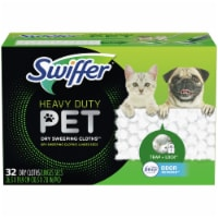 Swiffer Heavy Duty Pet with Febreze Odor Defense Dry Sweeping Cloths