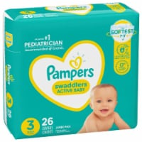 Pampers Swaddlers Size 3 Diapers - 26 ct
