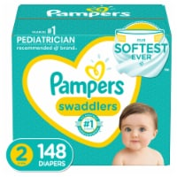 Pampers Swaddlers Size 2 Diapers - 148 ct