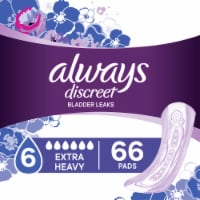 Always Discreet Extra Heavy Bladder Leak Pads 66 Count