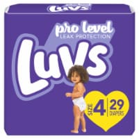 Luvs Triple Leakguards Size 4 Diapers