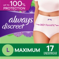 Always Discreet Incontinence Maximum Large Underwear for Women