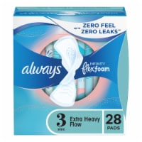 Always Infinity FlexFoam Size 3 Unscented Extra Heavy Absorbency Pads with Wings 28 Count