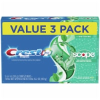 Crest Complete Plus Scope Minty Fresh Striped Whitening Fluoride Toothpaste Value Pack